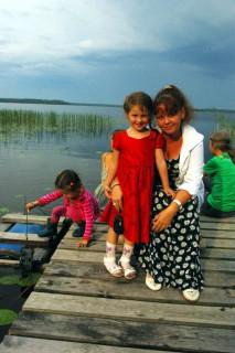 катя и дочки