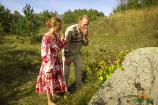 виноград у камня