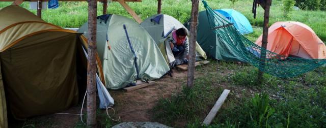 Палаточный лагерь, лето 2015 года.